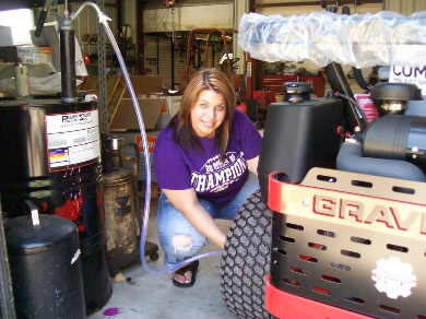 installing on gravely lawn tractor